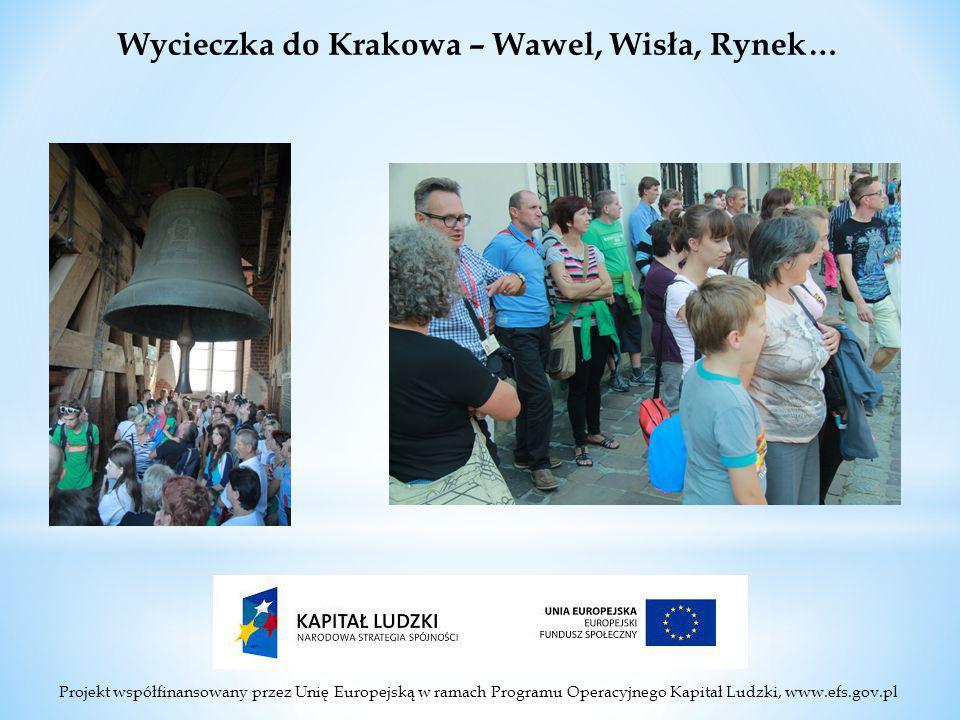 Projekt współfinansowany przez Unię Europejską w ramach Programu Operacyjnego Kapitał Ludzki, www.efs.gov.pl Wycieczka do Krakowa – Wawel, Wisła, Rynek…