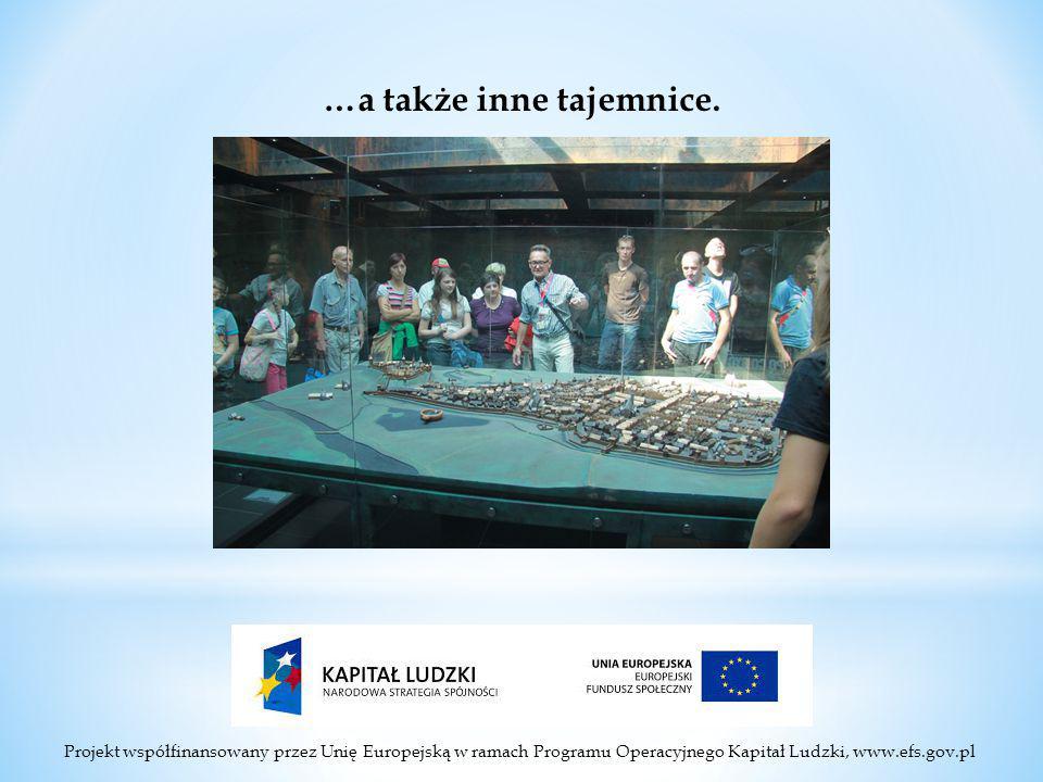 Projekt współfinansowany przez Unię Europejską w ramach Programu Operacyjnego Kapitał Ludzki, www.efs.gov.pl …a także inne tajemnice.