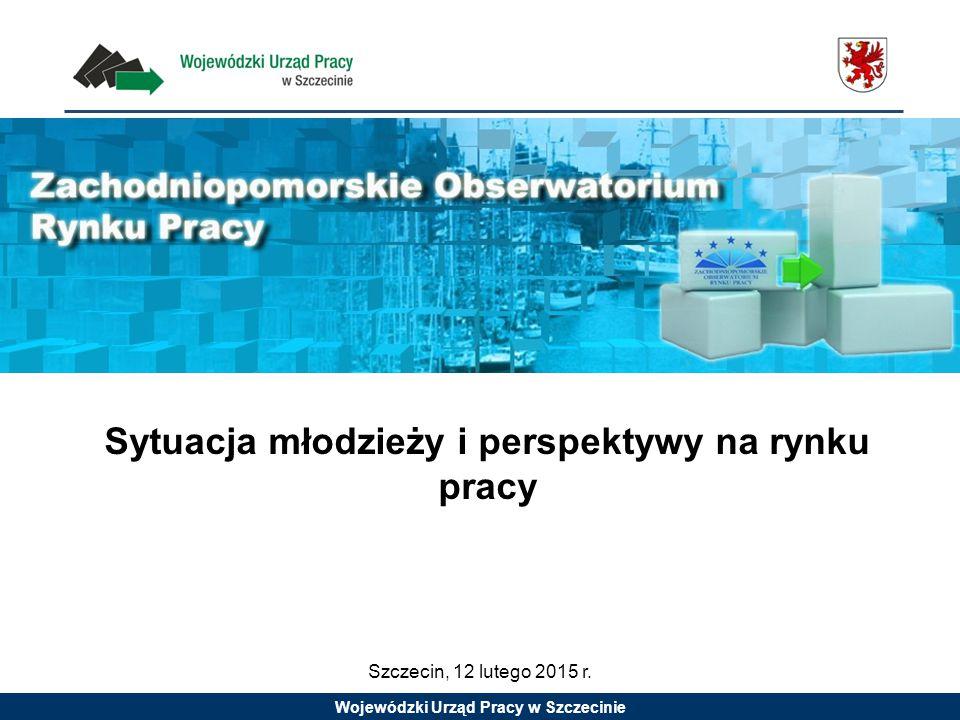 Wojewódzki Urząd Pracy w Szczecinie Sytuacja młodzieży i perspektywy na rynku pracy Szczecin, 12 lutego 2015 r.