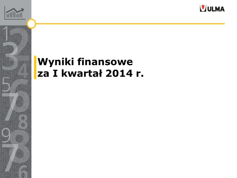 Wyniki finansowe za I kwartał 2014 r.