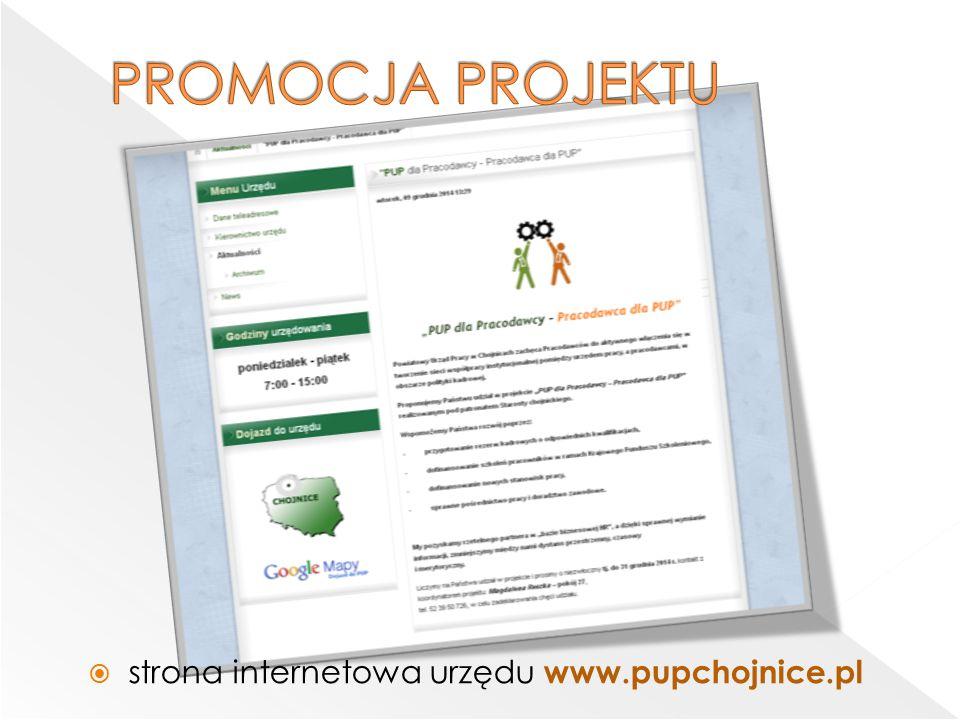  strona internetowa urzędu www.pupchojnice.pl