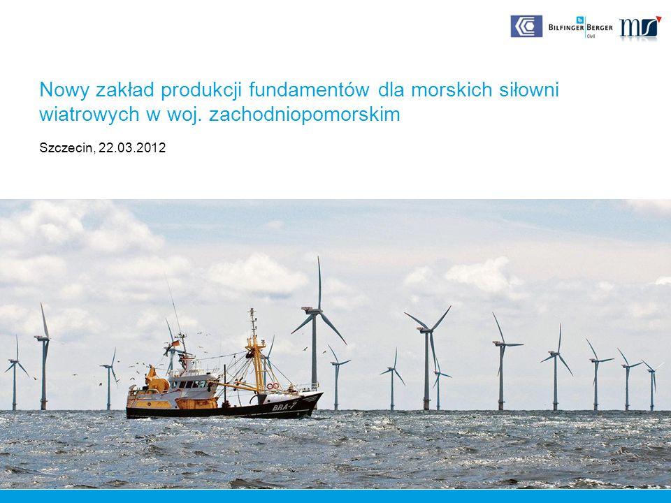 Zmiana z konwencjonalnych na odnawialne źródła energii Ograniczona ilość atrakcyjnych lokalizacji dla farm lądowych Wiatry morskie są stabilniejsze i mocniejsze => Ogromny potencjał energetyczny Brak ograniczeń dla wielkości turbin i morskich farm Morska energetyka wiatrowa 12 08.03.2012 ø 100m ø 150m Moc turbiny 2,5 MW Moc turbiny 6 MW Nordex a forward-looking product Nowy zakład produkcji fundamentów dla morskich siłowni wiatrowych w woj.zachodniopomorskim