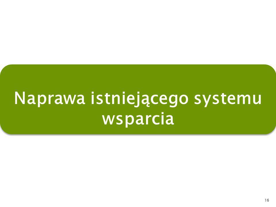 16 Naprawa istniejącego systemu wsparcia