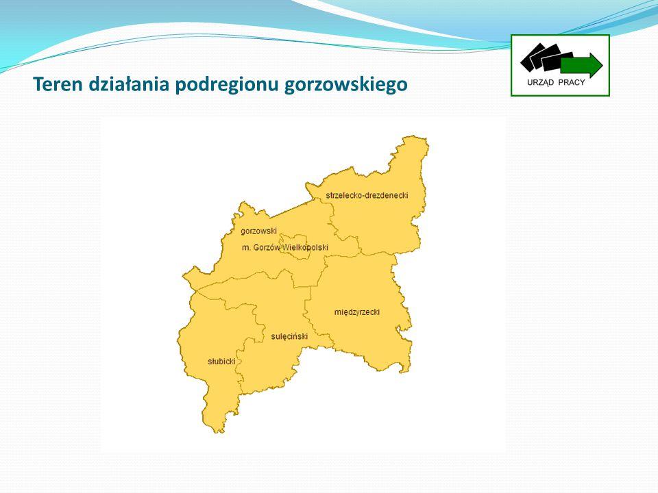 Teren działania podregionu gorzowskiego