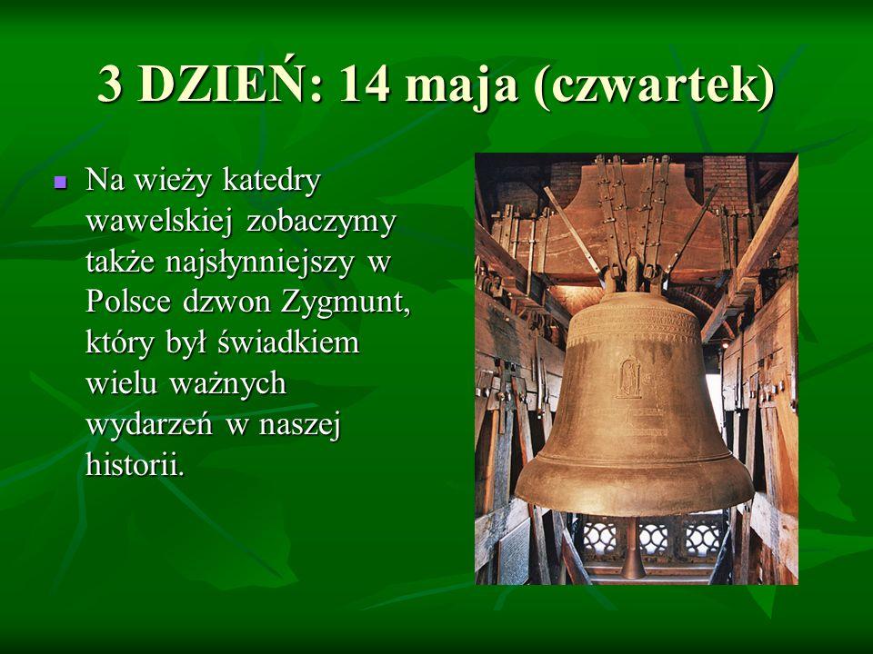 Na wieży katedry wawelskiej zobaczymy także najsłynniejszy w Polsce dzwon Zygmunt, który był świadkiem wielu ważnych wydarzeń w naszej historii.