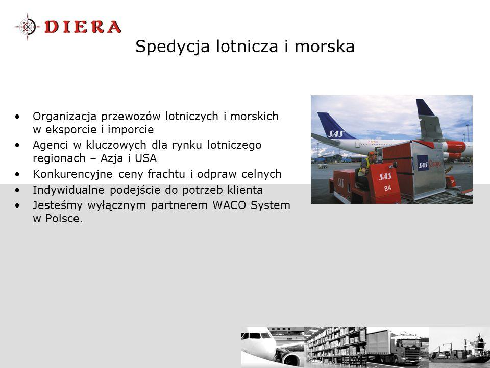 Spedycja lotnicza i morska Organizacja przewozów lotniczych i morskich w eksporcie i imporcie Agenci w kluczowych dla rynku lotniczego regionach – Azj
