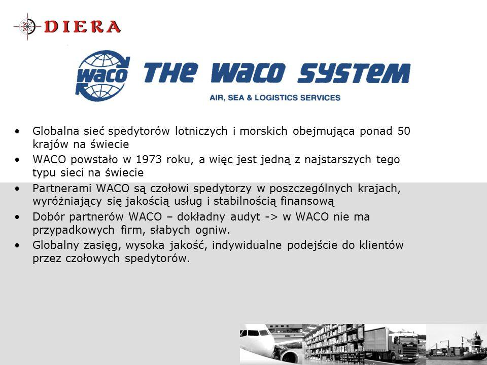 Globalna sieć spedytorów lotniczych i morskich obejmująca ponad 50 krajów na świecie WACO powstało w 1973 roku, a więc jest jedną z najstarszych tego