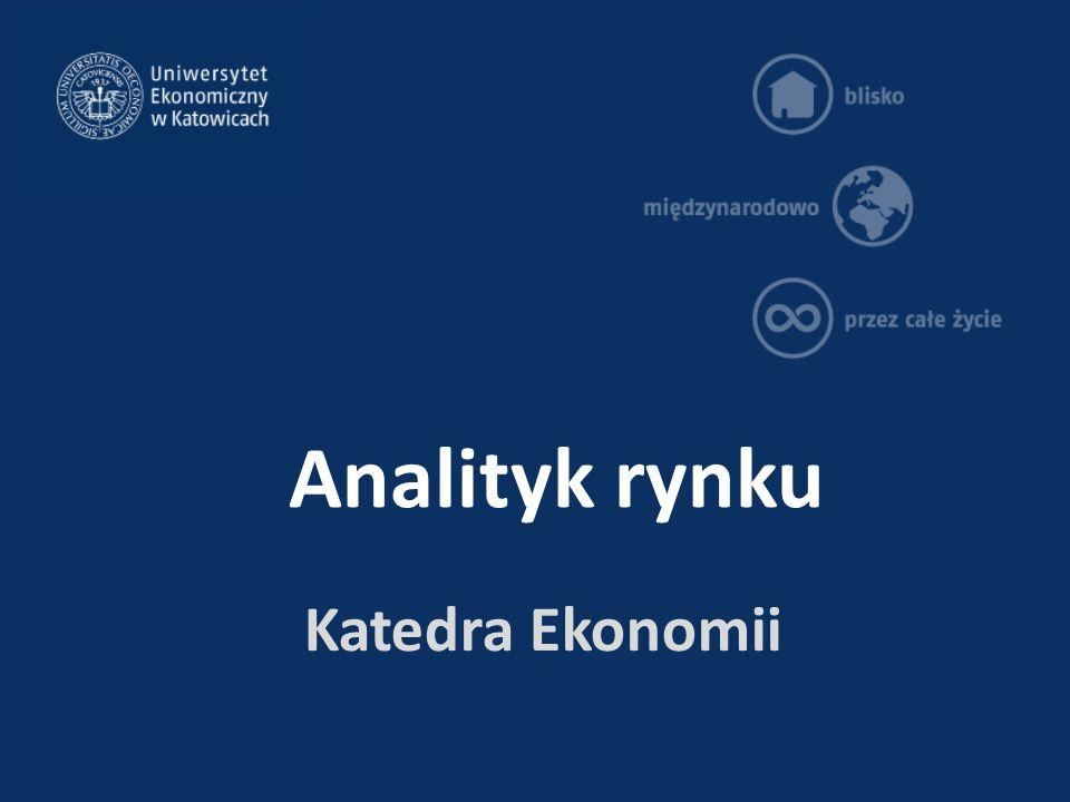 Analityk rynku Katedra Ekonomii