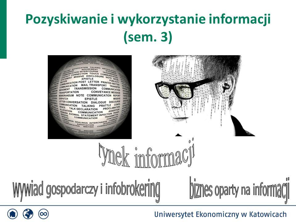 Pozyskiwanie i wykorzystanie informacji (sem. 3)