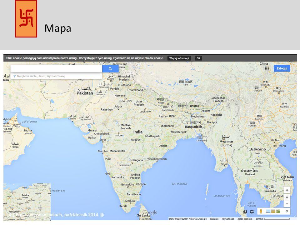 Mapa 4 | Efektywność w Indiach, październik 2014 Ⓒ