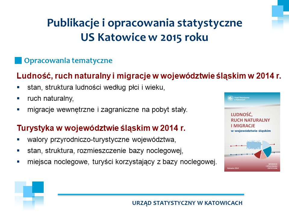 Ludność, ruch naturalny i migracje w województwie śląskim w 2014 r.  stan, struktura ludności według płci i wieku,  ruch naturalny,  migracje wewnę
