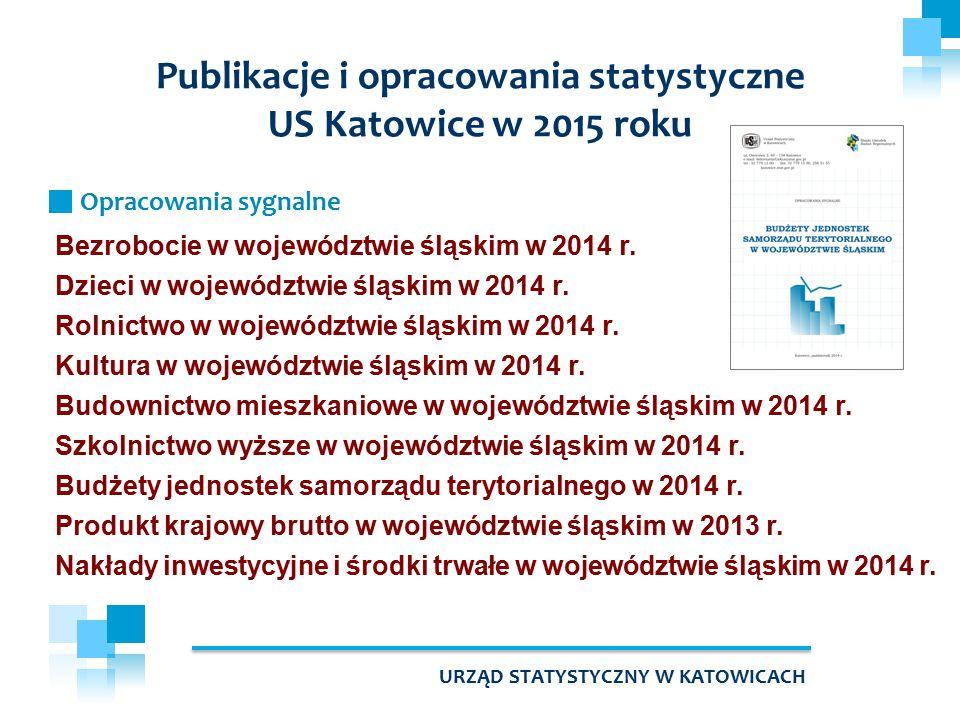 Bezrobocie w województwie śląskim w 2014 r. Dzieci w województwie śląskim w 2014 r. Rolnictwo w województwie śląskim w 2014 r. Kultura w województwie