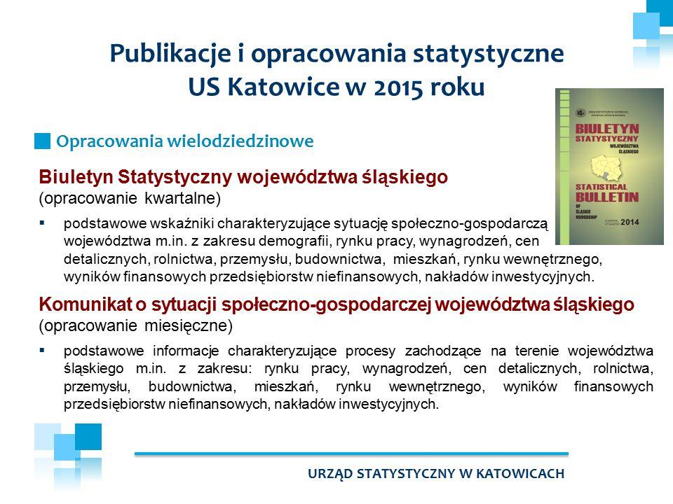 Biuletyn Statystyczny województwa śląskiego (opracowanie kwartalne)  podstawowe wskaźniki charakteryzujące sytuację społeczno-gospodarczą województwa m.in.