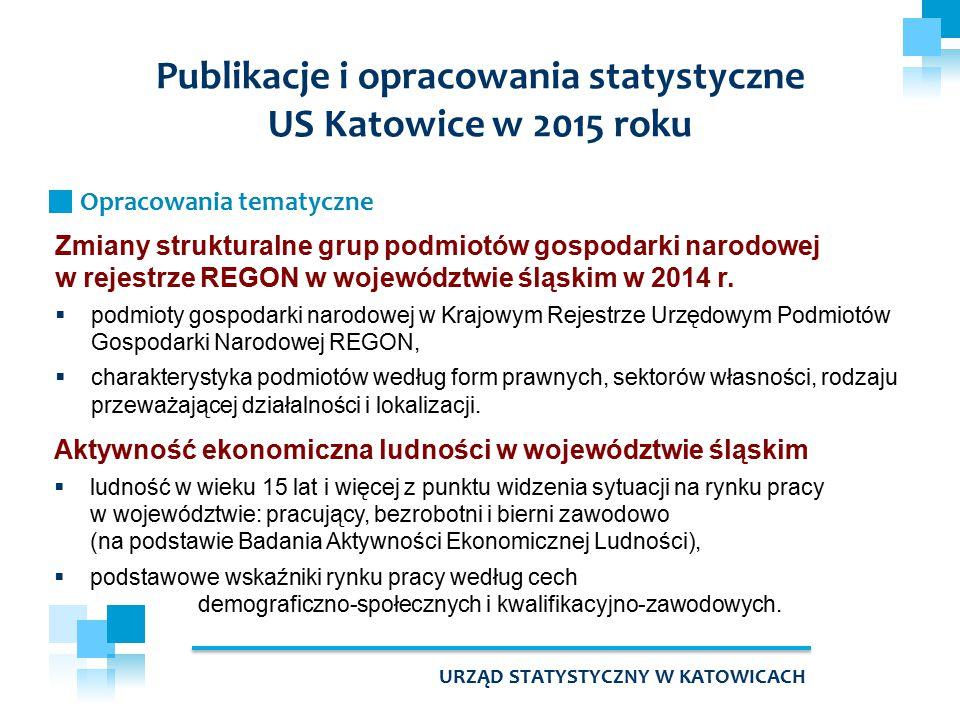 Zmiany strukturalne grup podmiotów gospodarki narodowej w rejestrze REGON w województwie śląskim w 2014 r.