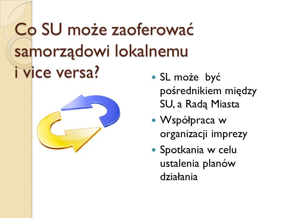 Co SU może zaoferować samorządowi lokalnemu i vice versa.