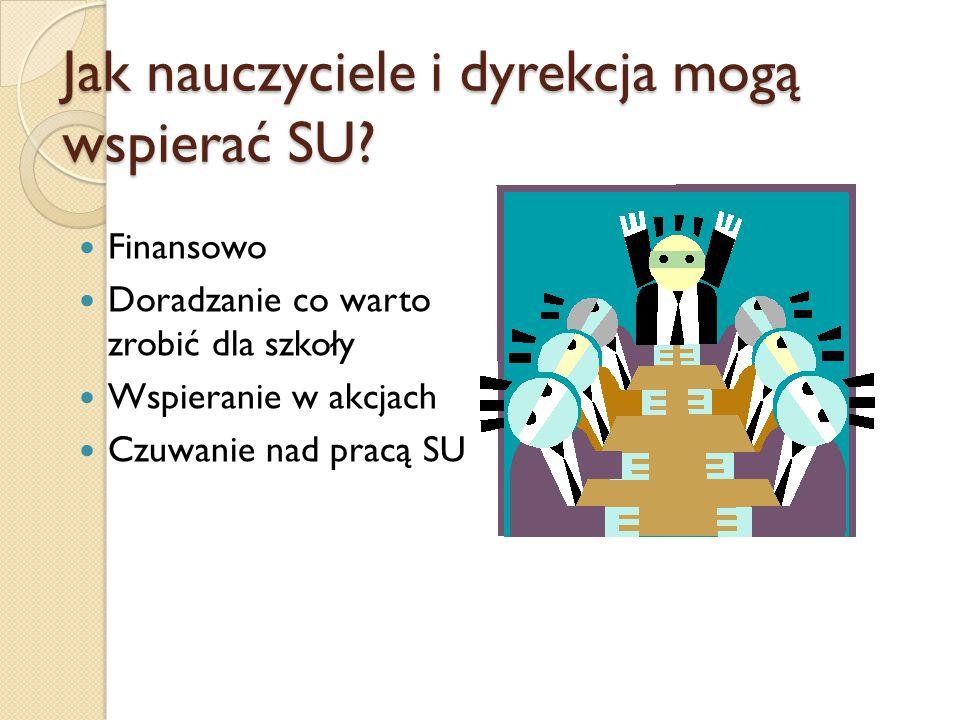 W szkole Plakaty Gazetka SU Świetlica szkolna Radiowęzeł Organizowanie konkursów Uroczystości Drzwi otwarte