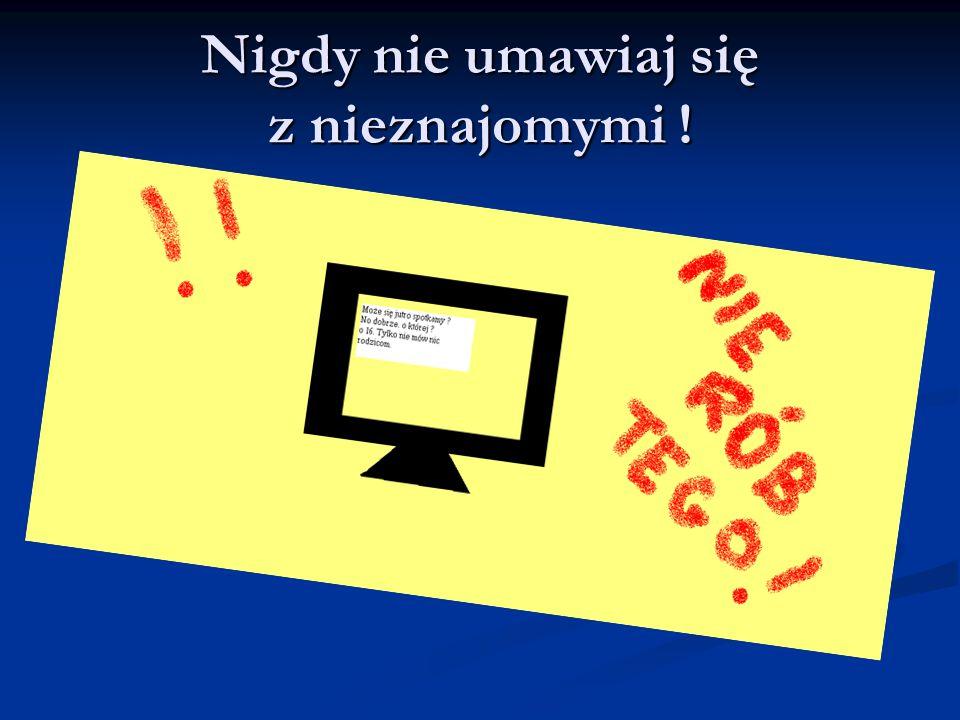 Nie podawaj swoich danych NIGDY !!!