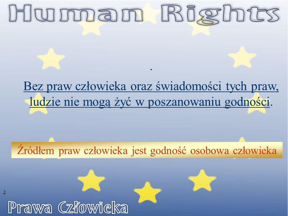 Rada Europy – inne dokumenty dotyczące praw człowieka  Europejska Karta Socjalna – przyjęta 1962 r.