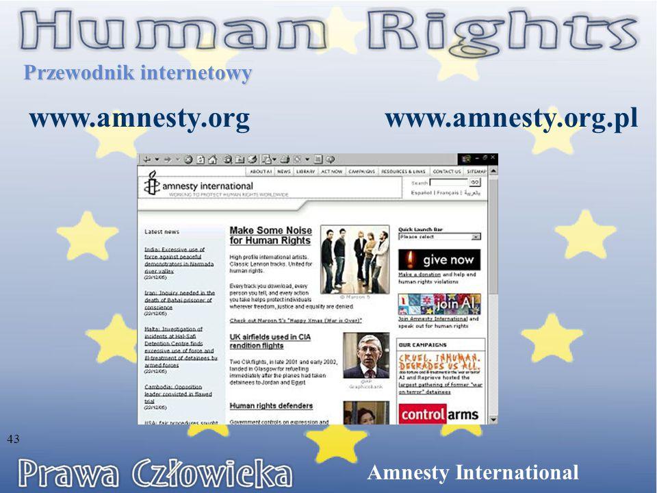 Przewodnik internetowy www.amnesty.org Amnesty International www.amnesty.org.pl 43