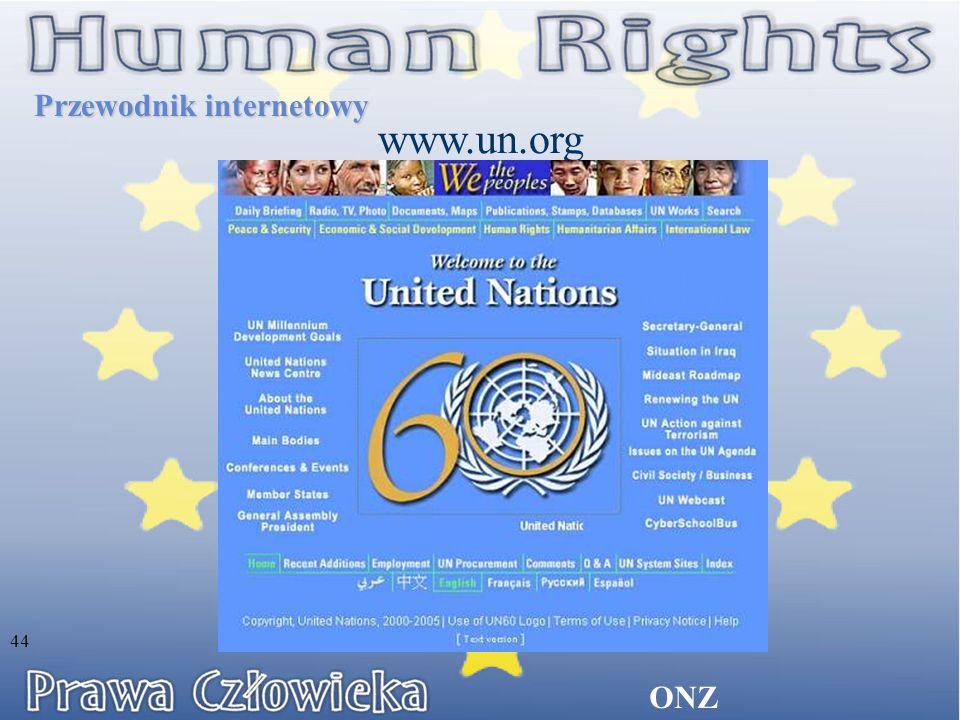 ONZ Przewodnik internetowy www.un.org 44