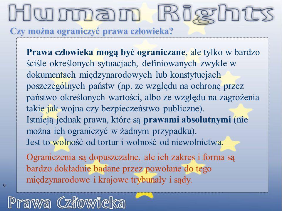 Europejska Konwencja Praw Człowieka Europejska Konwencja o Ochronie Praw Człowieka i Podstawowych Wartości 8 września 1953 r.