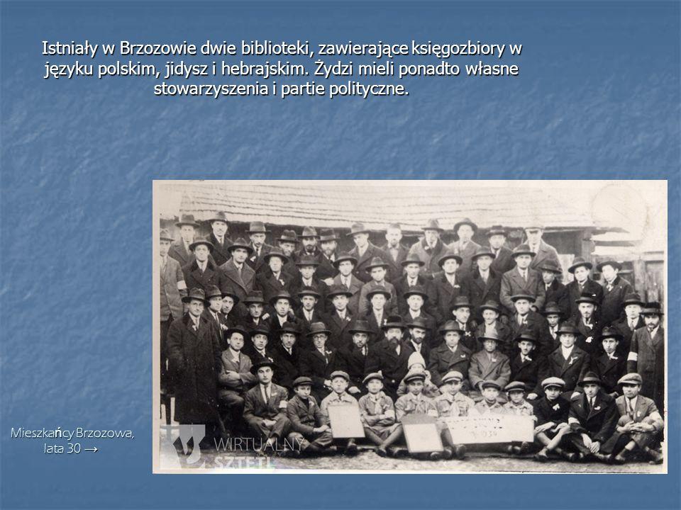 Istniały w Brzozowie dwie biblioteki, zawierające księgozbiory w języku polskim, jidysz i hebrajskim. Żydzi mieli ponadto własne stowarzyszenia i part
