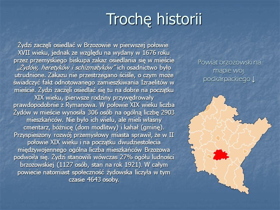 Trochę historii Żydzi zaczęli osiedlać w Brzozowie w pierwszej połowie XVII wieku, jednak ze względu na wydany w 1676 roku przez przemyskiego biskupa