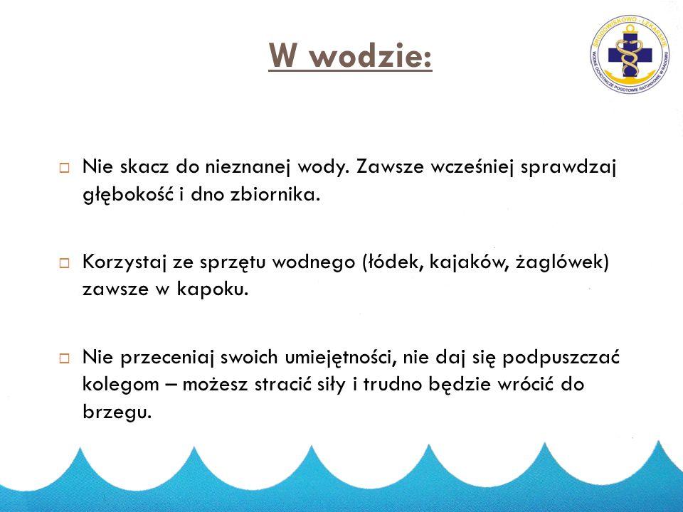 2015-03-27 27 W wodzie:  Nie kąp się nigdy w pobliżu ostróg. Nie chodź też po nich. Ostrogi są śliskie – łatwo można z nich spaść, są też obrośnięte