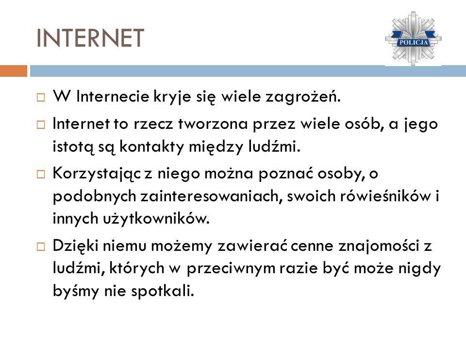 Bezpiecznie w miejscu zamieszkania Zagrożenia:  Internet,  nieznajomy,  gaz, ogień, prąd elektryczny, woda.