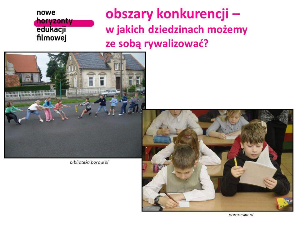 obszary konkurencji – w jakich dziedzinach możemy ze sobą rywalizować? biblioteka.borow.pl pomorska.pl