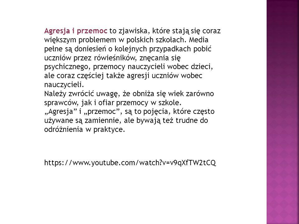 Agresja i przemoc to zjawiska, które stają się coraz większym problemem w polskich szkołach. Media pełne są doniesień o kolejnych przypadkach pobić uc