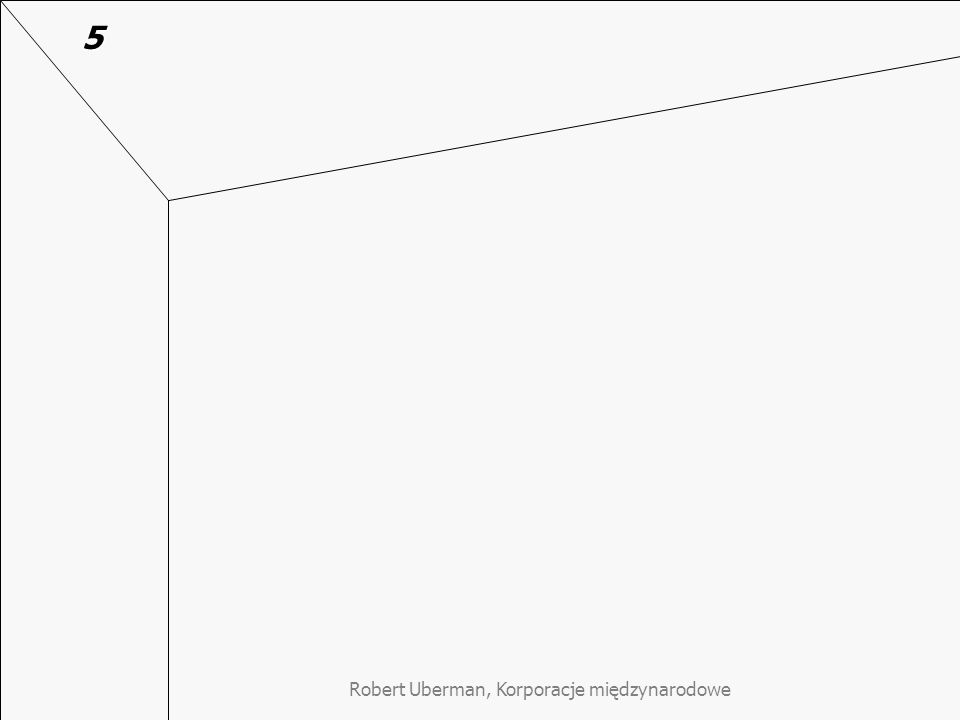 """Robert Uberman, Korporacje międzynarodowe Dlaczego ludzie chcą pracować dla """"wizjonerskich KMN Dlaczego ludzie chcą pracować dla """"wizjonerskich KMN (Goffee Rob, Jones Garreth """"Creating the Best Workspace on Earth za: Harvard Business Review, May, 2013) 3 z 6 zasad """"idealnego miejsca pracy ustalonego w cytowanym badaniu jest zgodna wprost z zasadami """"wizjonerskich firm: Idealna firma jest świadoma swojej kultury, przyzwyczajeń w pracy a nawet reguł w zakresie stroju Idealna firma ma jakiś cel ponad wzrost wartości dla akcjonariuszy – cel z którym pracownicy mogą się utożsamiać Idealna firma wyznaje zasady, w które pracownicy mogą wierzyć Pozostałe trzy nie są z nimi sprzeczne (zasada swobodnego przepływu informacji, satysfakcji z dobrej roboty oraz premiowania odważnych innowacji)."""