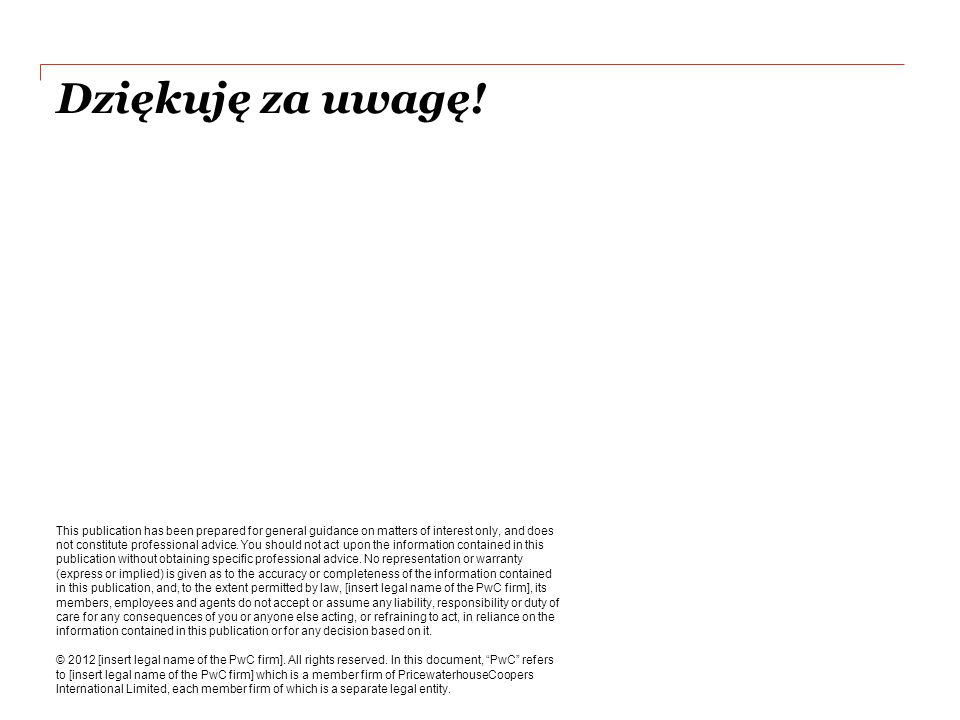 Dziękuję za uwagę! This publication has been prepared for general guidance on matters of interest only, and does not constitute professional advice. Y
