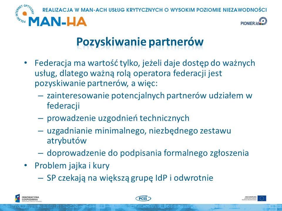 Konstrukcja eduroam ma wiele cech federacji typu hub & spoke Niektóre federacje (np.