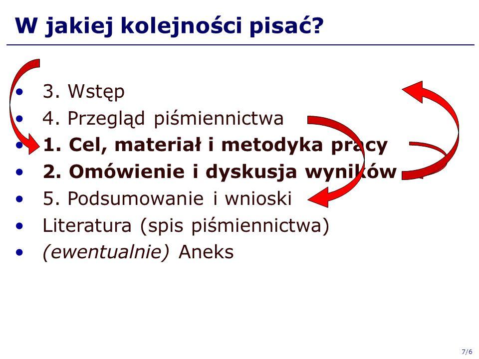 8/6 Materiały w sieci Prowadzący ♦ http://www.wzim.sggw.pl/leszek_chmielewski ♦ http://lchmiel.pl  Dla studentów ♦ http://stud.lchmiel.pl Zarządzenie, Przewodnik: ♦ http://www.sggw.pl  Dla studentów  Dokumenty do pobrania