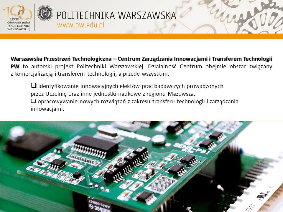 Warszawska Przestrzeń Technologiczna – Centrum Zarządzania Innowacjami i Transferem Technologii PW Warszawska Przestrzeń Technologiczna – Centrum Zarz
