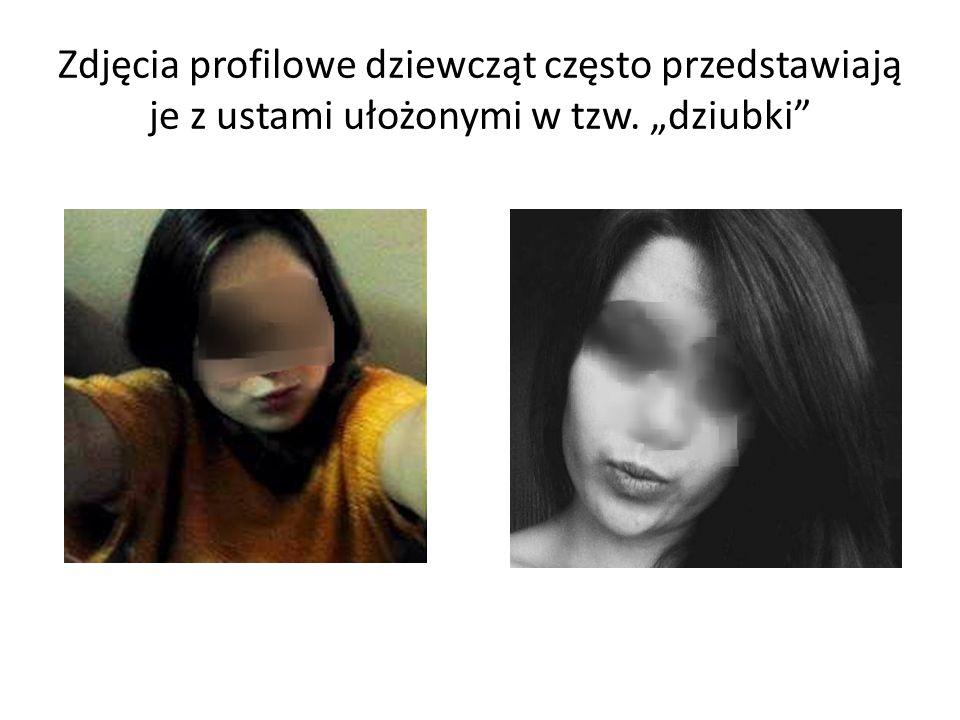"""Zdjęcia profilowe dziewcząt często przedstawiają je z ustami ułożonymi w tzw. """"dziubki"""""""