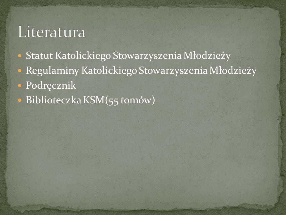Statut Katolickiego Stowarzyszenia Młodzieży Regulaminy Katolickiego Stowarzyszenia Młodzieży Podręcznik Biblioteczka KSM(55 tomów)