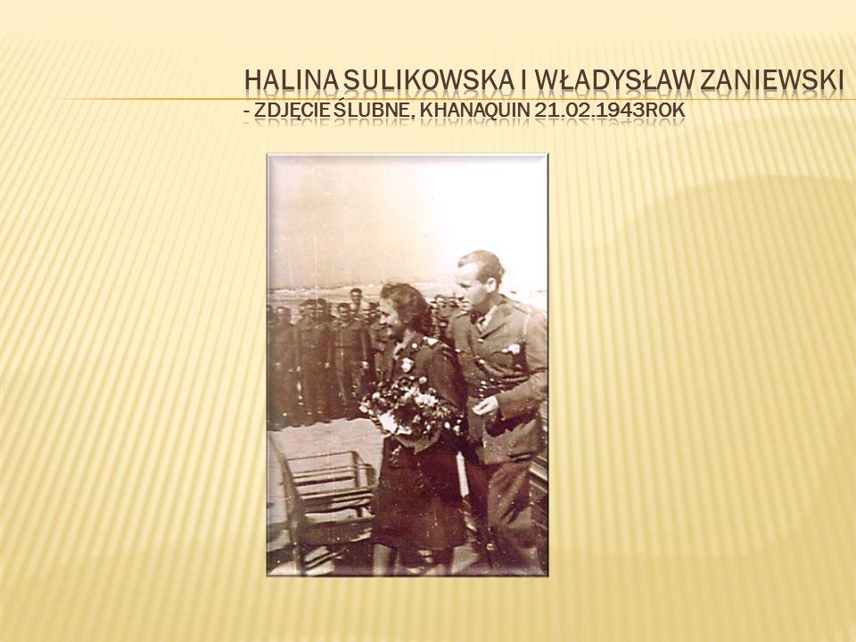 Dalej Wojsko Polskie, a z nim młode małżeństwo, przeszło do Palestyny.