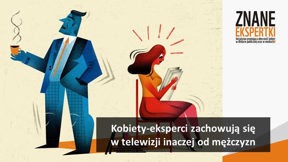 Kobiety-eksperci zachowują się w telewizji inaczej od mężczyzn