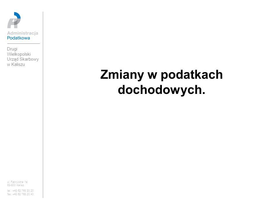 ul. Fabryczna 1a 62-800 Kalisz tel.: +48 62 768 20 20 fax: +48 62 768 20 40 Zmiany w podatkach dochodowych.