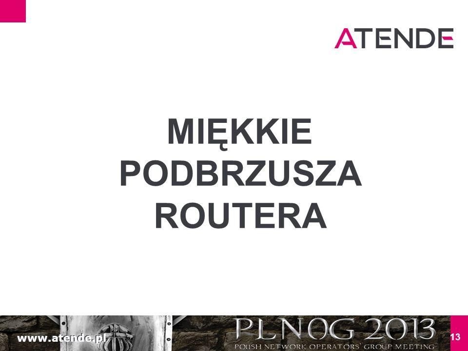www.atende.pl 13 MIĘKKIE PODBRZUSZA ROUTERA