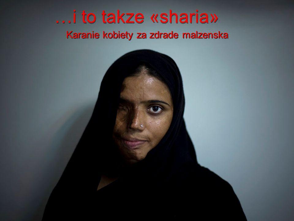 To jest «sharia» Kara za nieposuszenstwo wobec malzonka