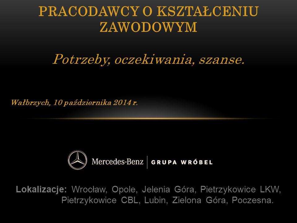 Lokalizacje: Wrocław, Opole, Jelenia Góra, Pietrzykowice LKW, Pietrzykowice CBL, Lubin, Zielona Góra, Poczesna. PRACODAWCY O KSZTAŁCENIU ZAWODOWYM Pot
