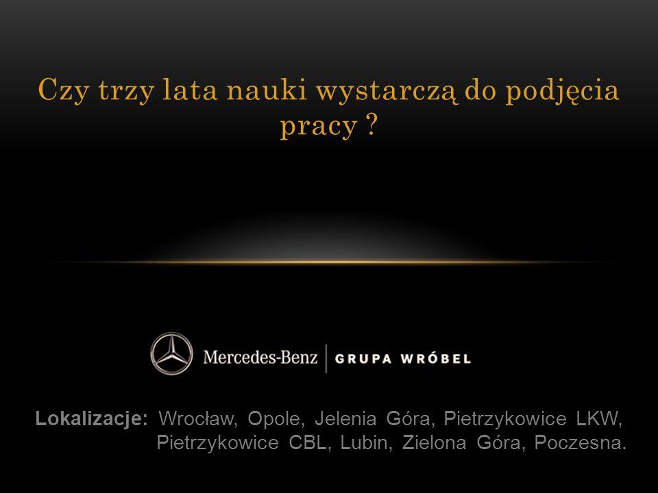 Lokalizacje: Wrocław, Opole, Jelenia Góra, Pietrzykowice LKW, Pietrzykowice CBL, Lubin, Zielona Góra, Poczesna. Czy trzy lata nauki wystarczą do podję