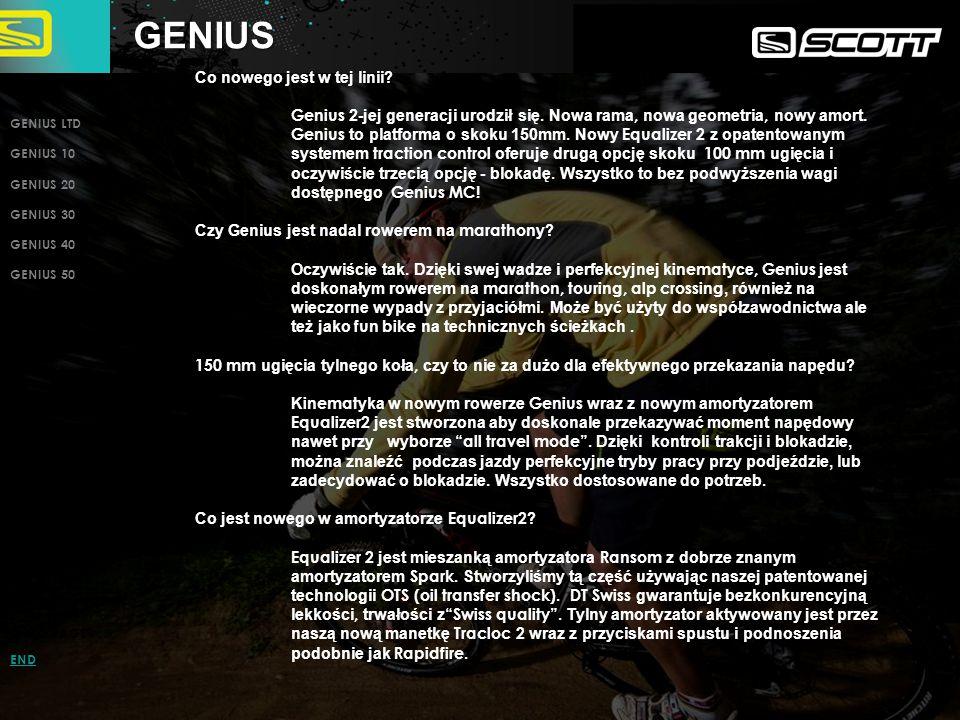 GENIUS LIMITED GENIUS LTD GENIUS 10 GENIUS 20 GENIUS 30 GENIUS 40 GENIUS 50 INTRO PAGE END NOWA rama Genius, karb.