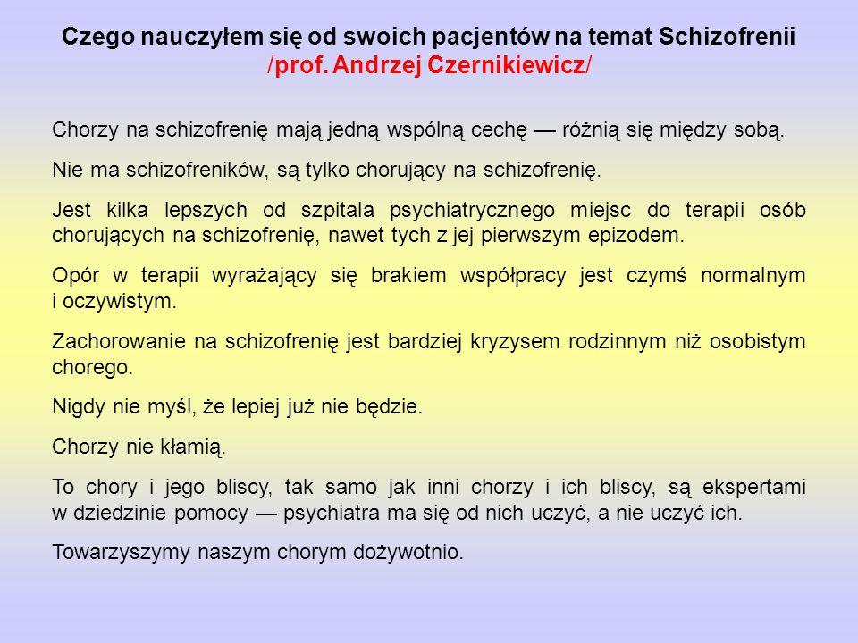 Czego nauczyłem się od swoich pacjentów na temat Schizofrenii /prof.