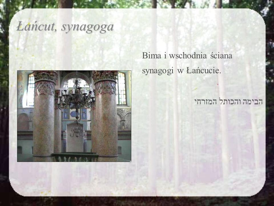 Polichromia na bimie. Adam, Ewa i Drzewo Poznania. עיטורים על הבימה. אדם וחוה ועץ הדעת