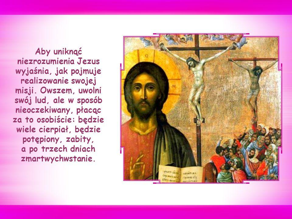 Podczas podróży do północnej Galilei, przemierzając wioski otaczające Cezareę Filipową, Jezus pyta swych uczniów, co o Nim myślą.