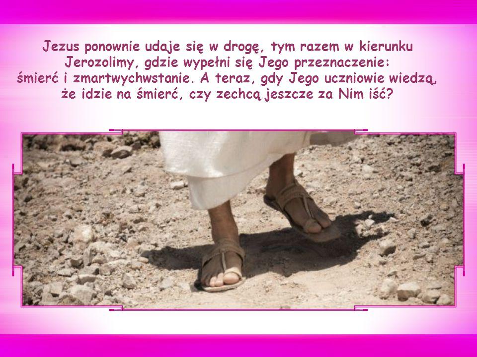 """Piotr nie akceptuje takiej wizji Mesjasza – wyobrażał Go sobie, podobnie jak wielu innych w Jego czasach, jako tego, który miał działać z mocą i siłą, pokonując Rzymian i przywracając narodowi izraelskiemu należne mu miejsce w świecie – i upomina Jezusa, który gani go słowami: """"Ty nie myślisz o tym, co Boże, ale o tym, co ludzkie (Mk 8, 33)."""